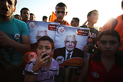 A young boy leading chants at the rally, which saw speakers from a wide spectrum of polticial opinion endorse Aboul Fotouh..