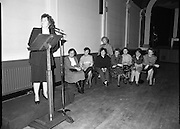 """These Obstreperous Lassies"" Book Launch.  (R93)..1988..15.12.1988..12.15.1988..15th December 1988..A book which chronicles an important aspect of Irish social history was launched in Larkin Hall. ""These Obstreperous Lassies"" written and researched by Mary Jones, details the seventy three years of the Irish Women Workers Union and of the women who were involved in the union..With Countess Markievicz as its first president, The Union began the fight for equal pay and fair treatment under the leadership of women like helen Chenevix, Louise Bennett and Helena Molloy. They fought for the rights of vulnerable workers such as Laundresses,print workers,box makers,nurses and dressmakers..The Author, Mary Jones, is a full time researcher specialising in Women and Work...Padraigin Ni Murchú,Past Gen Secretary, Women's Workers Union,is pictured speaking at the launch of the book ""These Obstreperous Lassies"""