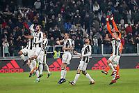 can - 25.01.2017 - Torino - Coppa Italia Tim  -  Juventus-Milan nella  foto:  L'esultanza dei giocatori della Juventus a fine partita