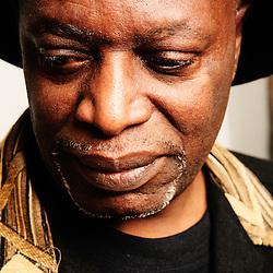 Portrait de Mweze Ngangura pour l'affiche du festival des cinemas africains a Bruxelles (Afrique Taille XL). Anderlecht, Belgique. 14 Janvier 2008