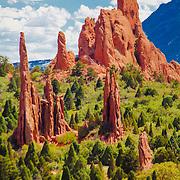 Tall peaks, Garden of the Gods, Colorado Springs, Colorado