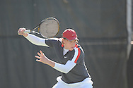 Ole Miss' Tucker Vorster vs. Memphis in college tennis action at Palmer-Salloum at Ole Miss in Oxford, Miss. on Tuesday, March 1, 2011.