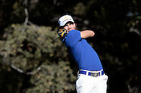 20 December 2008: Columbian golfer Camilo Villegas tees off on six  during the third round of the 2008 Chevron World Challenge at Sherwood Country Club in Thousand Oaks, California.