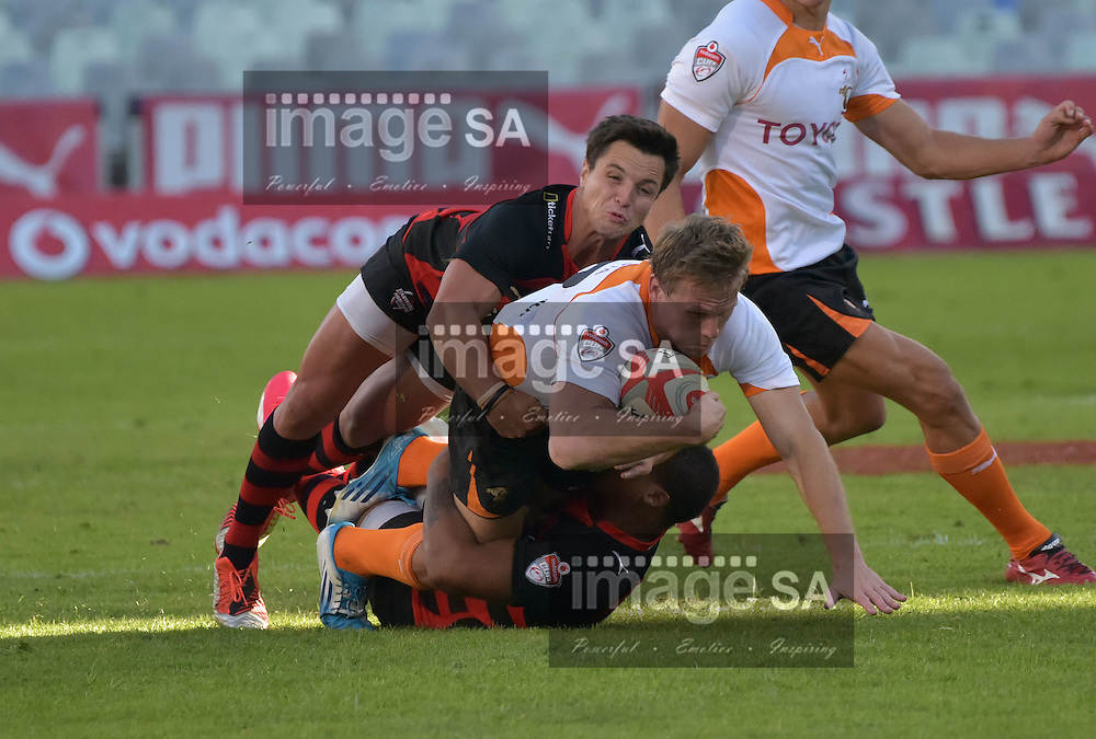 BLOEMFONTEIN, SOUTH AFRICA - Saturday 18 April 2015,  during the Vodacom Cup rugby match between Toyota Free State XV and EP Kings at the Free State Stadium, Bloemfontein.Joubert Engelbrecht Inside centre of Toyota Free State XV<br /> Photo by Charl Devenish/ImageSA/ SARU