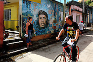 Image of Ernesto Che Guevara in Baracoa, Guantanamo, Cuba.