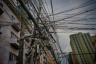 The infrastructure in the older districts of Manila, unlike in upscale districts like Makati, Forbes Park or Bonifacio Global City is in desperate need of upgrade.  Malate, Manila, Philippines.