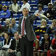 St. John's Women's Head Coach Joe Tartamella directs team from the sideline in the second half of a NCAA regular season non-conference game between Delaware (CAA) and St. John's (Big East) Monday, Dec 30, 2013 at The Bob Carpenter Sports Convocation Center in Newark Delaware.