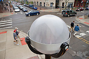 An LED streetlight made by Relume Technologies, Inc., of Oxford, MI, at the intersection of S. Main and W. Washington in Ann Arbor, MI, Thursday, May 7, 2009. Ann Arbor has installed LED streetlights to reduce lighting costs and greenhouse gas emissions.