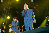 American band The Beastie Boys on stage in concert at T In The Park music festival, in Scotland, in 1998..Rex 291321 JSU.