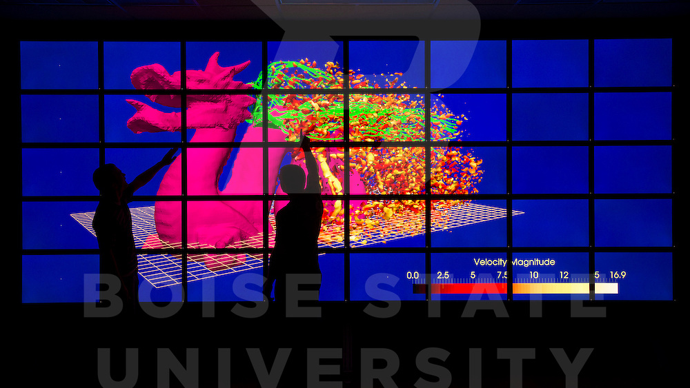 Visualization Cluster, Inanc Senocak, Engineering, Carrie Quinney photo