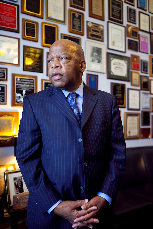 Rep. John Lewis (D-GA) poses for a portrait in his office on Capitol Hill on Tuesday, Apr. 21, 2009 in Washington, DC.