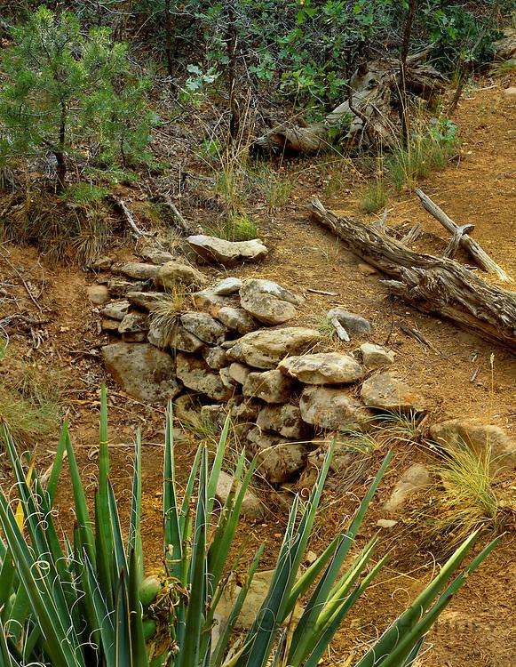 0405-1128 ~ Copyright: George H.H. Huey ~ Anasazi check dam, used for crop irrigation, on Wetherill Mesa.  Mesa Verde National Park, Colorado