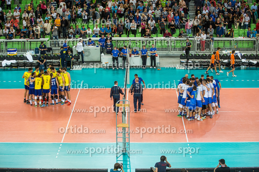 friendly volleyball match between national teams of Slovenia and Brasil in Arena Stozice on 9. September 2015 in , Ljubljana, Slovenia. Photo by Grega Valancic / Sportida