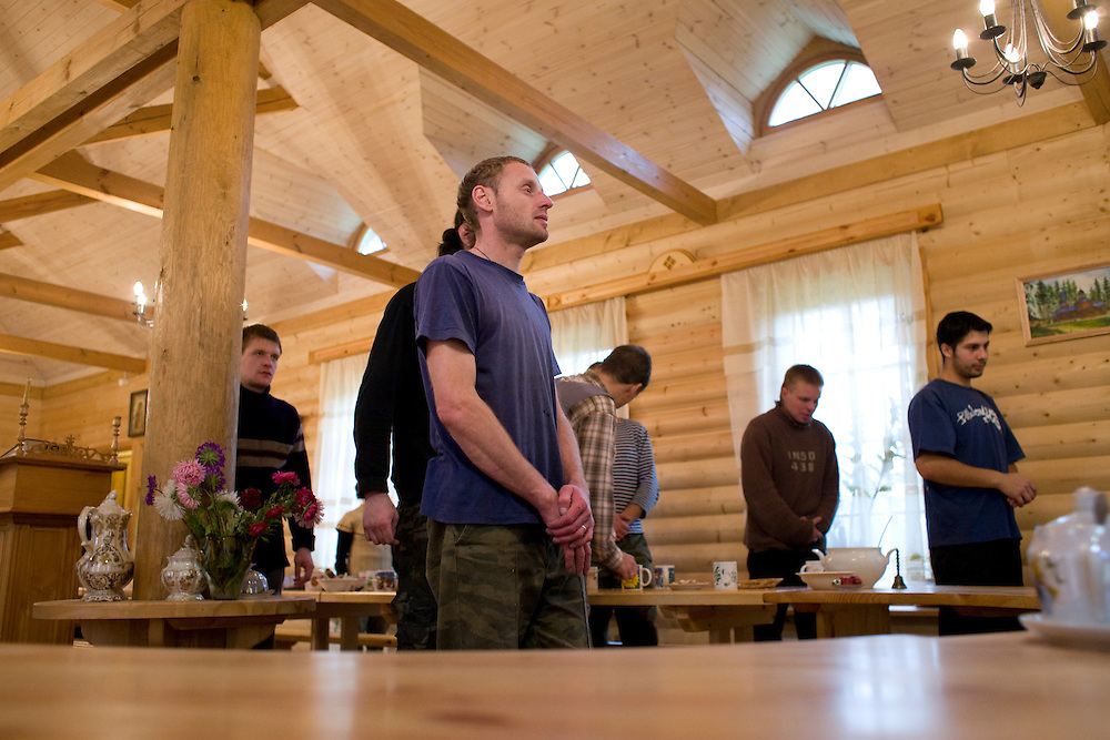 A rehabilitation program for drug addicts in Sapernoe, Russia, on September 15, 2007.