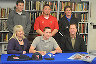 Water Valley's Taylor King signs to play baseball with Northwest Community College, in Water Valley, Miss. on Thursday, February 9, 2012.