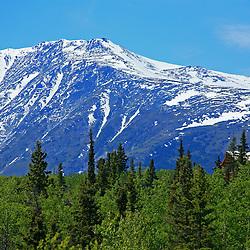 Mountain ridge house, Carcross, Yukon Territory, Canada