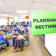 CAPTION: This is the Planning Section of the Environment Agency in Makati. ACCCRN's project is still in its infancy in Manila; next steps will involve the Climate Core Team looking at current plans and policies and working out how to integrate climate change adaptation and resilience into them, taking into consideration climate change's projected impacts. LOCATION: Makati City Hall, Makati, Metro Manila, Philippines. INDIVIDUAL(S) PHOTOGRAPHED: N/A.