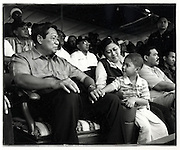Susilio Bambang Yudhoyono with wife Kristiani Herwati and small friend in Cilincing, one of Jakarta's poorest areas. Independence Day August 17 2004