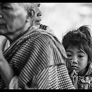 Family of former Khmer Rouge soldiers offers prayers during a merit making ceremony near Pailin along the Thai-Cambodian border.  Pailin was one of the last strongholds of the Khmer Rouge under Pol Pot.