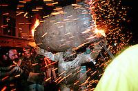 """""""SPARKS FLY"""".THE TAR BARRELS OF OTTER ST MARY EAST DEVON..BY RUPERT RIVETT©2003..07771928201.(01273)695107"""