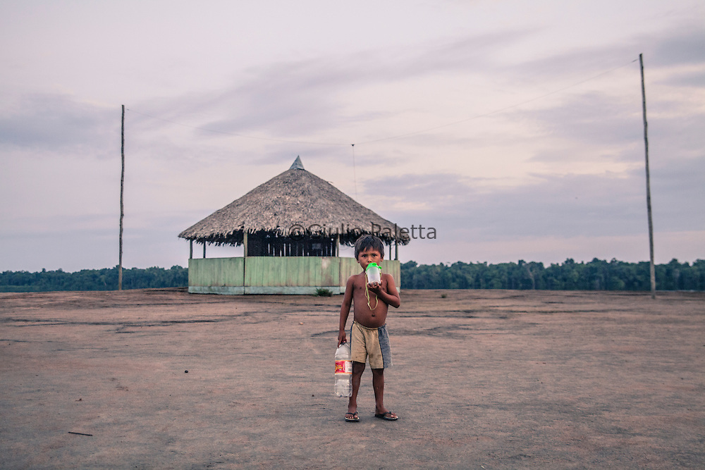 An indigenous community along the Rio Negro river, near the triple border between Brazil, Colombia and Venezuela in the Amazon