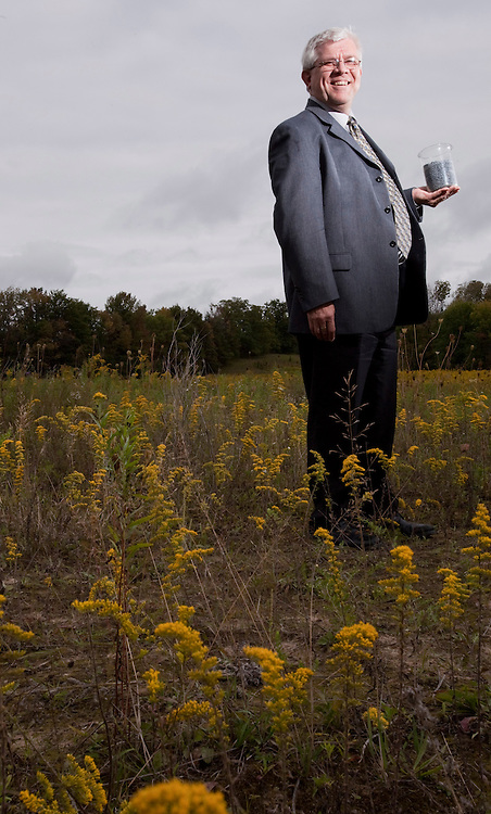 Guelph, ONT.: September 9, 2010 --  Peter Bruijns, President of Biorem stands in a field at the company's offices in Guelph, Ontario, September 9, 2010.<br /> (GEOFF ROBINS for National Post)