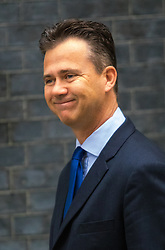 Downing Street, London, May 12th 2015. The all-conservatives Cabinet ministers gather for their first official meeting at Downing Street. PICTURED: Parliamentary Under Secretary of State for Defence Personnel, Welfare and Veterans, Mark Lancaster.