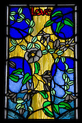 Love, Stain Glass Window, New Zealand<br /> <br /> NOT FOR SALE, as this is merely a full-frame photograph of another's artwork