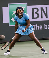 Tennis: BNP Paribas Open 2016 Serena Williams vs Agnieszka Radwanska