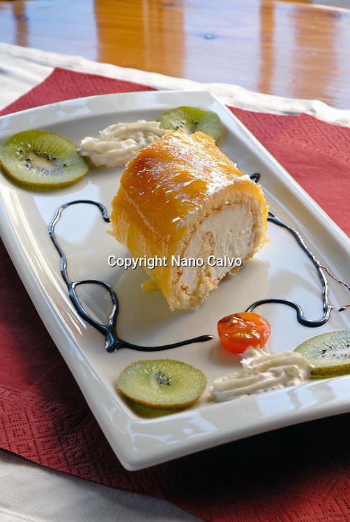 Icecream dessert in a restaurant