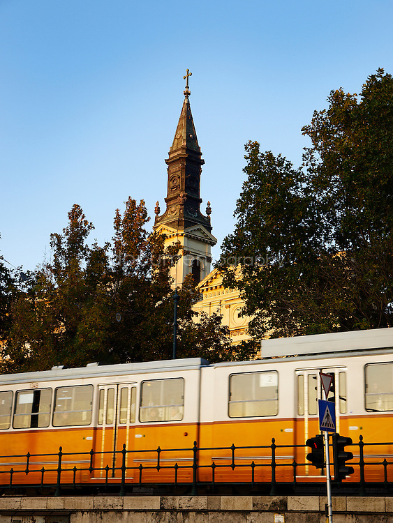 Tram n.2, Budapest, Hungary.