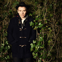 Singer and songwriter for the indie pop band Belle & Sebastian, Stuart Murdoch is photographed for The Skinny on December 12, 2014 in Glasgow, Scotland