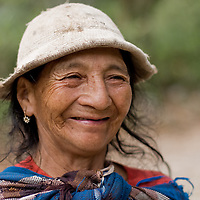 indigenous woman smiling, Andes of southern Ecuador