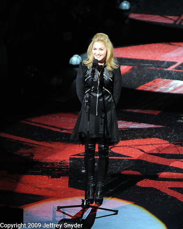 New York, NY-September 13, 2009: Madonna performs during the MTV Video Music Awards at Radio City Music Hall on September 13, 2009 in New York City (Photo by Jeff Snyder/PictureGroup)