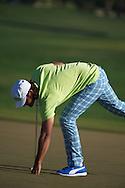 19.01.2013 Abu Dhabi, United Arab Emirates. Johan Edfors  in action during the European Tour HSBC Golf championship  third round from the Abu Dhabi Golf Club.