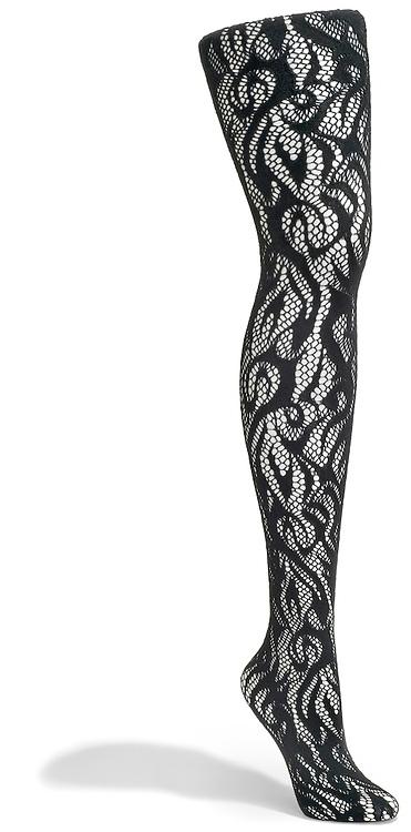 black lace fishnet tights