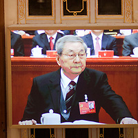 BEIJING, NOV 8, 2012 : Zhu Rongji, former Premier of the People's Republic of China , attends the 18th Party Congress of the CPC ( Communist Party Of China ).