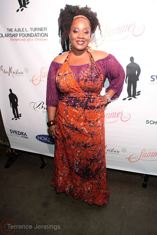 12 September 2013- Brooklyn, NY: Recording Artist Amma Whatt attends the Farewell to Summer 2013 Benefit Concert for the Ajile Turner Foundation held at the Galapagos Art Space on September 12, 2013 in Brooklyn, NY. ©Terrence Jennings