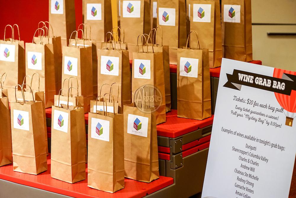 Seattle Children's Museum 36th Birthday Celebration 2016. Wine Grab Bag. Photo by Alabastro Photography.