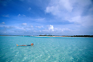 fully released, lagoon and white sand beach, Fernandez Bay Village, Cat Island, Bahamas