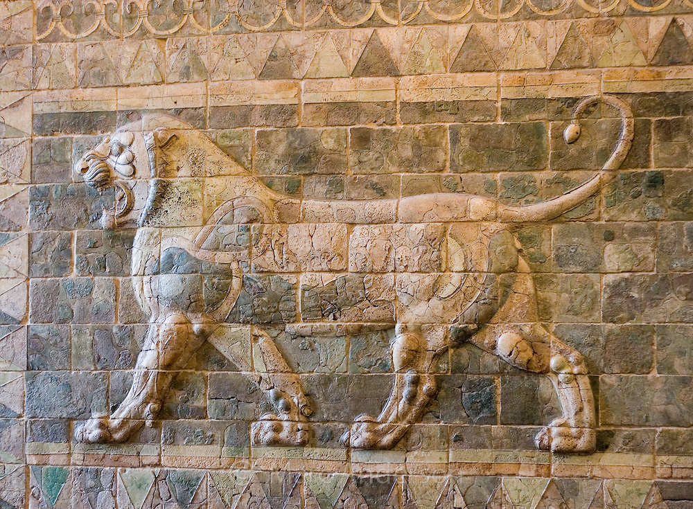 Lion Relief from the palace of Darius I, The Louvre, Paris
