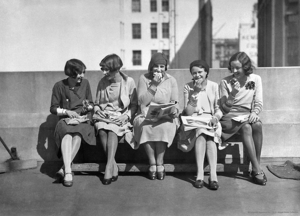"""Lunch On The Roof, """"A Day In The Life Of a Business Girl"""" Series, Sydney, Ausralia, 1930"""