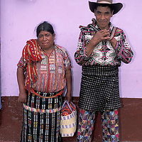 Maya Couple, Solola, Highlands, Guatemala, Central America