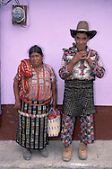 Maya Couple, Solola, Highlands, Guatemala, Central America