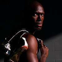 6/12/12 6:27:30 PM -- Bradenton, FL. -- Olympian LaShawn Merritt, who competes in the 400 meters, poses for a portrait at the IMG Performance Institute in Bradenton, Florida. ...Photo by Chip J Litherland, Freelance.