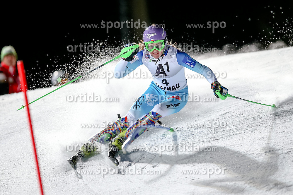 13.01.2015, Hermann Maier Weltcupstrecke, Flachau, AUT, FIS Weltcup Ski Alpin, Flachau, Slalom, Damen, 1. Lauf, im Bild Sarka Strachova (CZE) // Sarka Strachova of Czech Republic in action during 1st run of the ladie's Slalom of the FIS Ski Alpine World Cup at the Hermann Maier Weltcupstrecke in Flachau, Austria on 2015/01/13. EXPA Pictures © 2015, PhotoCredit: EXPA/ Johann Groder