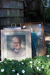 The Blue Boy and Eisenhower Print at a yard sale in The Hamptons