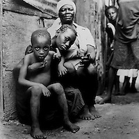 Family in Cite Soleil- Port au Prince, Haiti.  1986