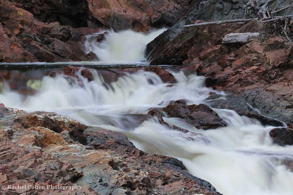 &quot;Colors of Chippewa Falls&quot;<br /> <br /> Beautiful and colorful rock along Chippewa Falls in Ontario Canada during summertime!