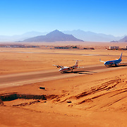 Planes in the Sharm el Sheikh Airport, Egypt